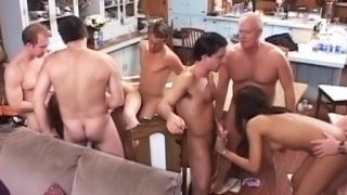 Who's hungry? Gangbang in the kitchen!
