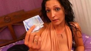 She pays Larry the Pervert in order to fuck her