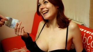 Larry meets a sexy french redhead with big tits