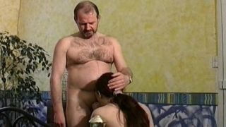 Little whore tastes cum for the first time