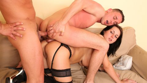 Bisex couple invite a stranger to their lovemaking