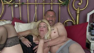 Husband and wife in a hot porn scene
