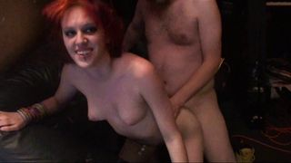 Amateur couple fucks in a seedy place