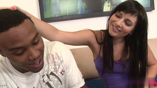 Brunette student seduces her step-dad