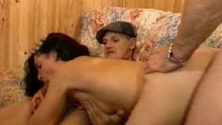 Threesome with a naughty grandpa who pays for that