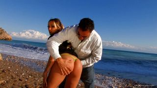 Sexy doll fucked on the seaside
