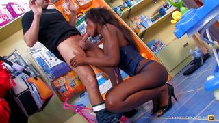 Spanish brute has it off with a toys saleswoman